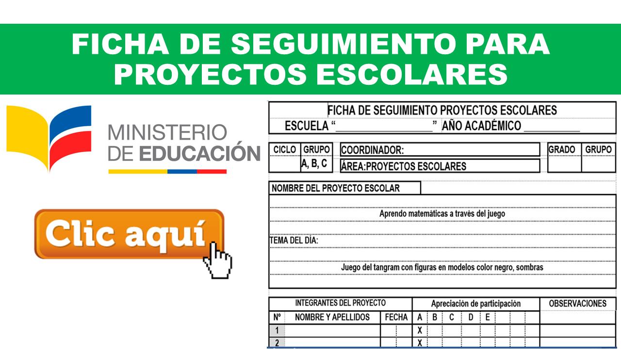 Ficha de Seguimiento para Proyectos Escolares