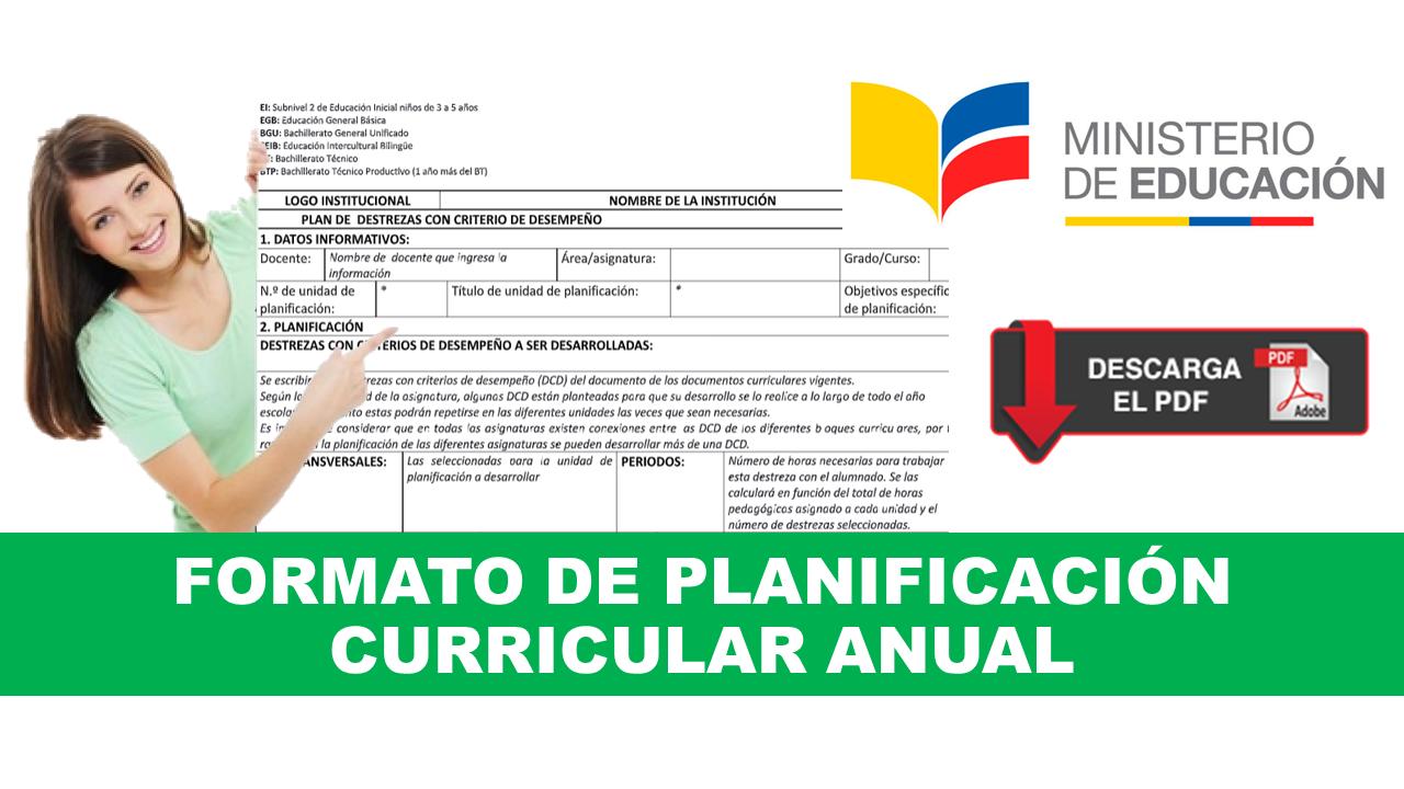 Formato de Planificación Curricular Anual