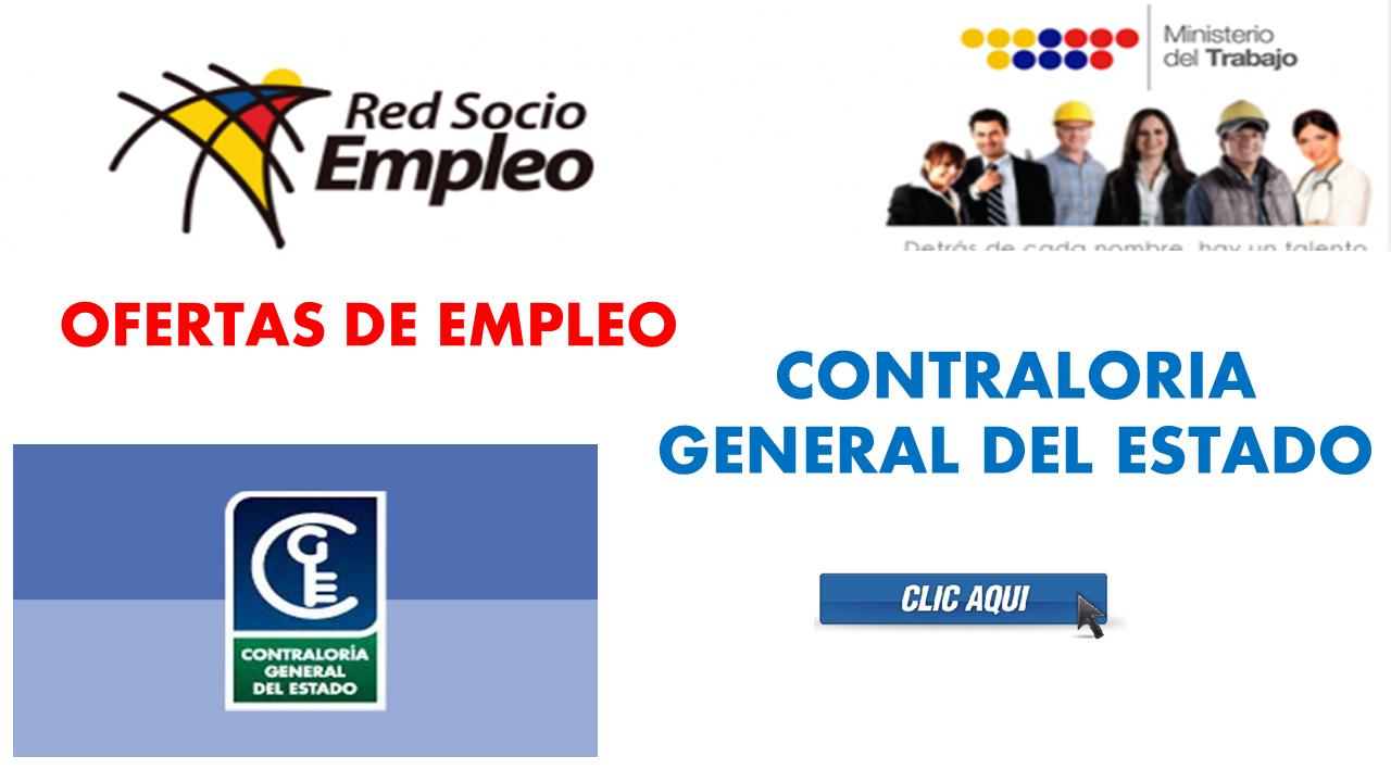 Ofertas de empleo contralor a general del estado para for Ofertas de empleo en la linea