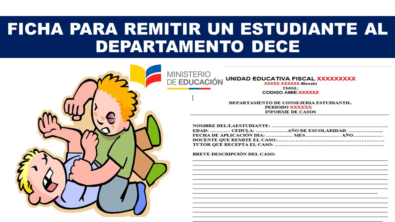 Ficha para remitir un estudiante al departamento DECE
