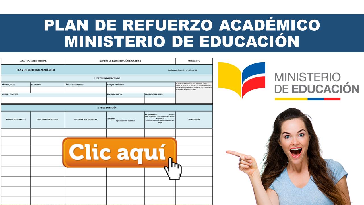 Plan de refuerzo académico Ministerio de Educación
