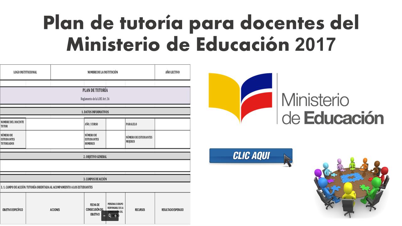 Plan de tutoría para docentes del Ministerio de Educación 2017