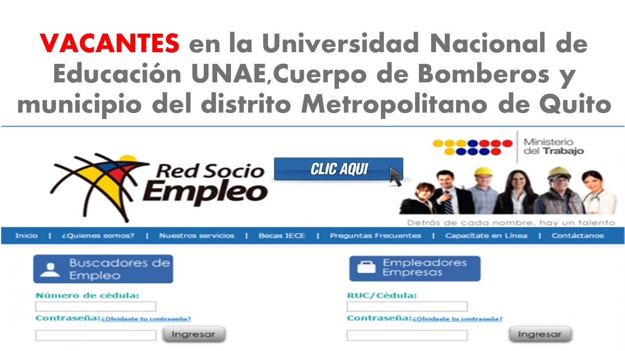 Empleos disponibles para la ciudad de Quito mayo 10-2017