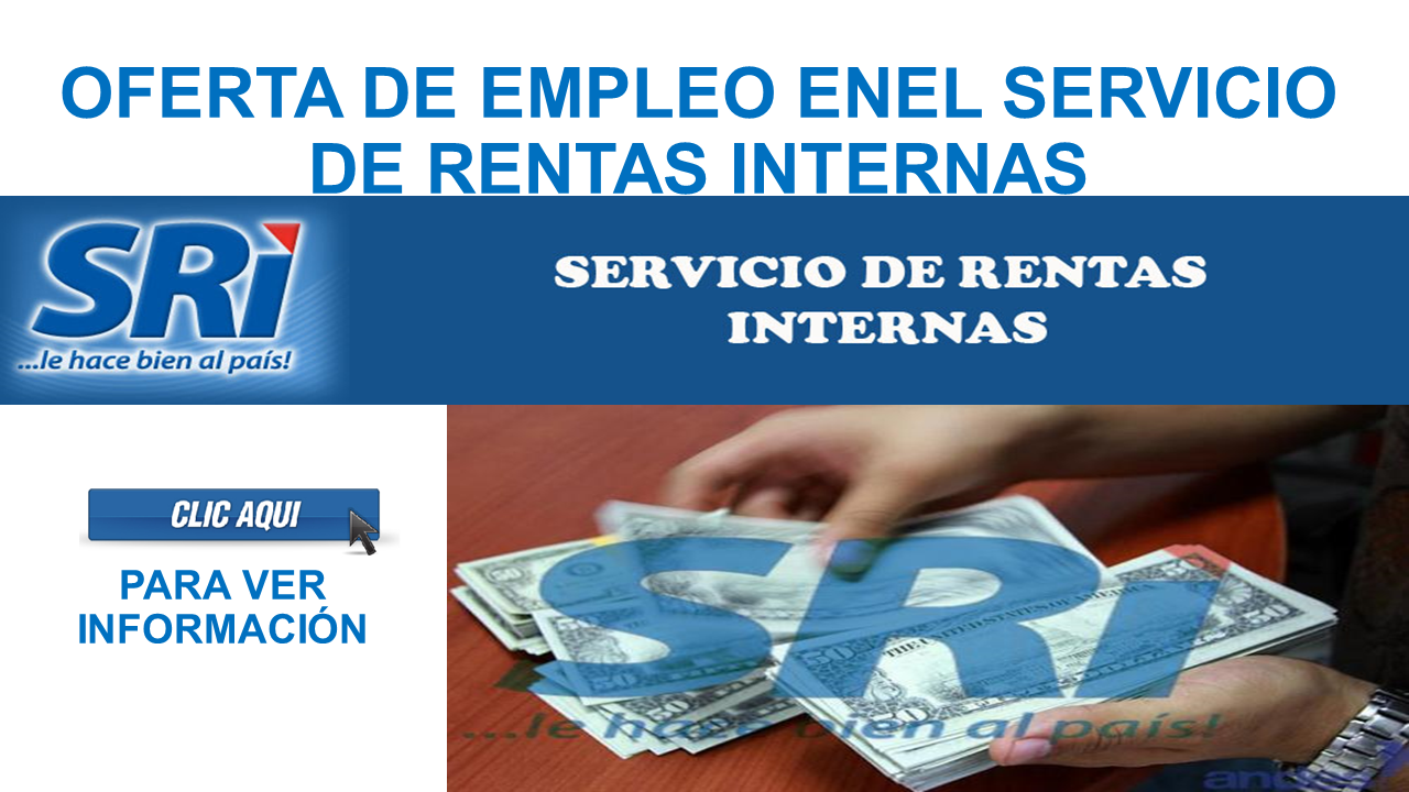 Oferta de empleo en el servicio de rentas internas 2017