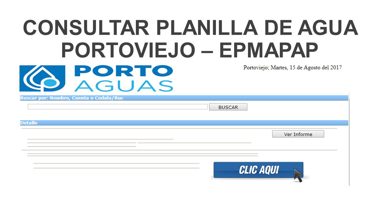 Consultar planilla de agua Portoviejo – epmapap