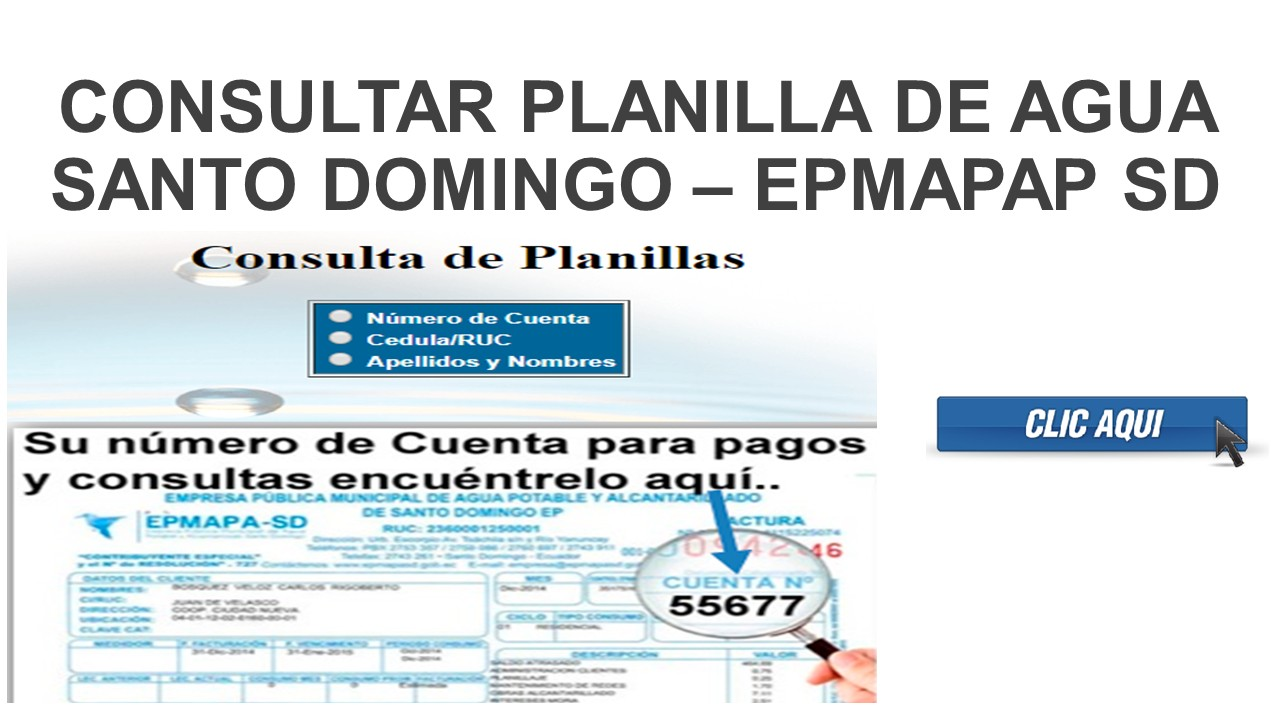 Consultar planilla de Agua Santo Domingo – epmapap SD