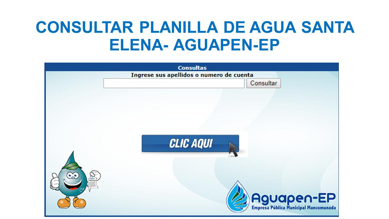 Consultar Planilla de Agua Santa Elena- AGUAPEN-EP