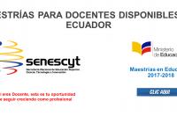 Maestrías para Docentes disponibles en Ecuador (MAESTRÍAS EN EDUCACIÓN)