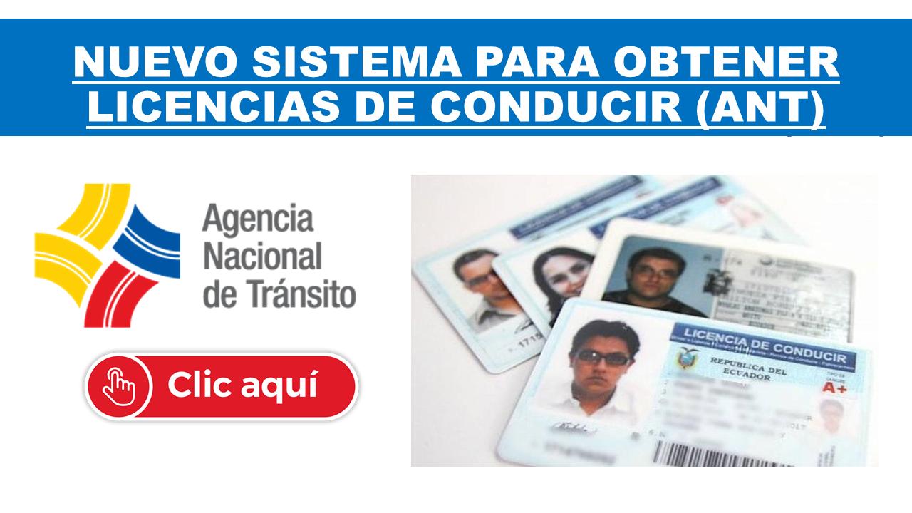 Nuevo sistema para obtener Licencias de Conducir (ANT)