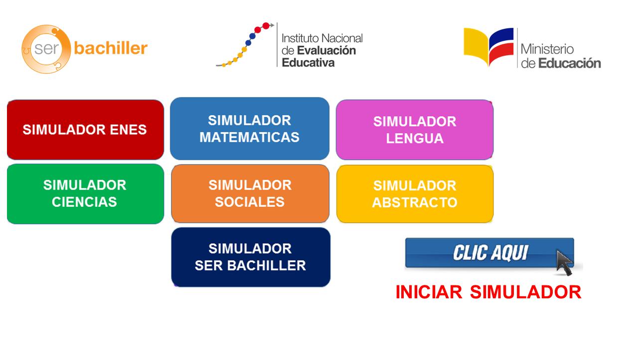 Pruebas Enes Simuladores 2018-2019 en todas las Materias en Línea