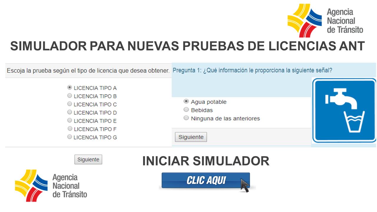 Simulador Preguntas Ant Para Licencias Ecuador 2021