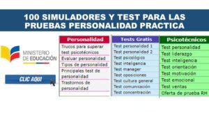 100 Simuladores y Test para las pruebas personalidad practica