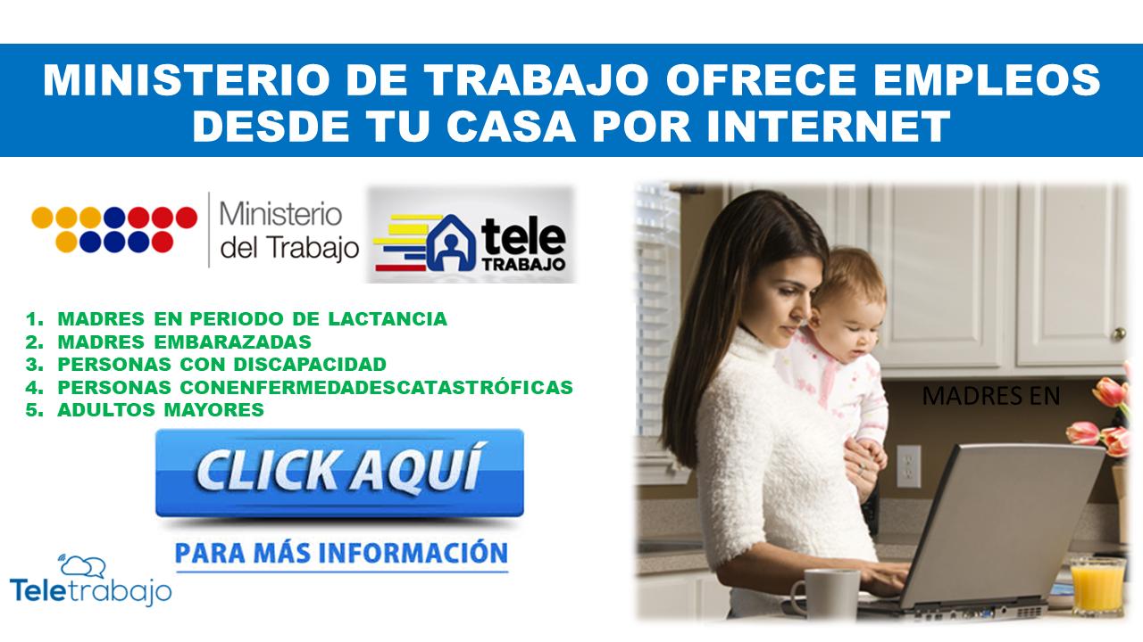 MINISTERIO DE TRABAJO ofrece empleos desde tu casa por medio de un nuevo sistema