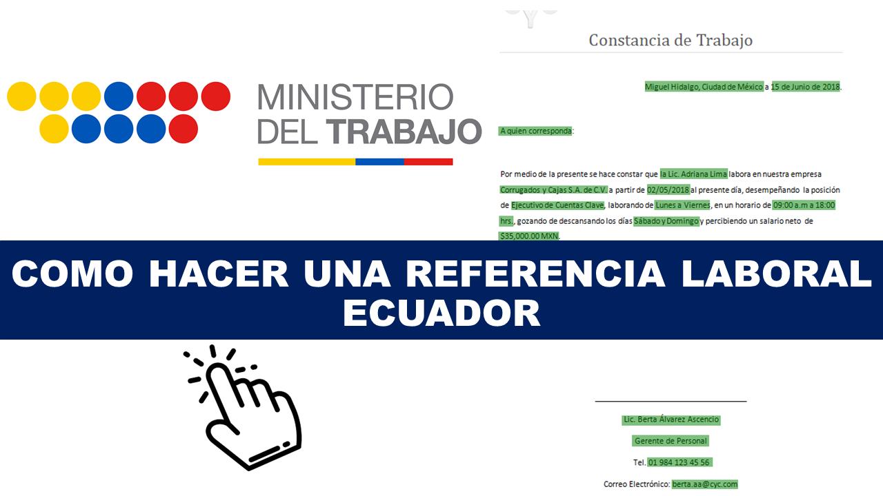 Como hacer una carta de referencia laboral ECUADOR