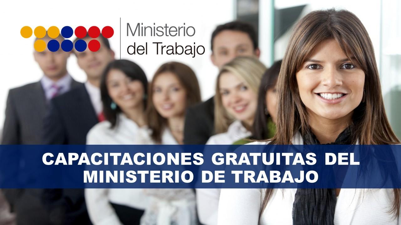 Capacitaciones gratuitas del ministerio de trabajo