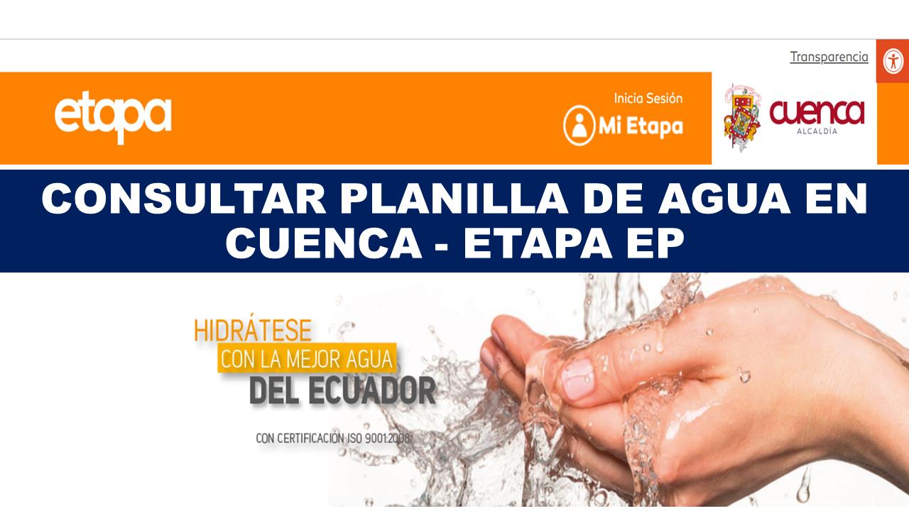 Consultar planilla de agua Cuenca - ETAPA EP