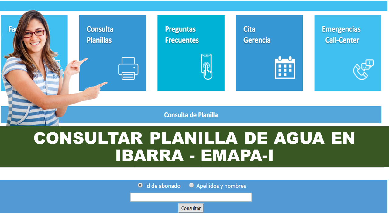 Consultar planilla de agua Ibarra - EMAPA-I