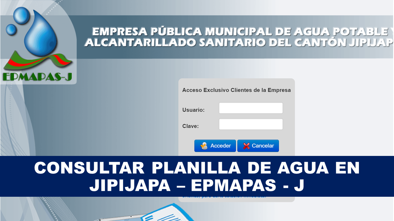 Consultar planilla de agua Jipijapa - EPMAPAS-J