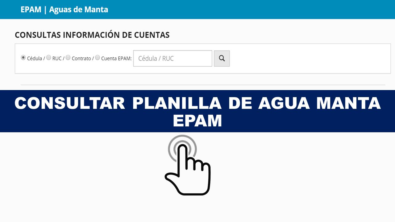 Consultar planilla de agua Manta - EPAM