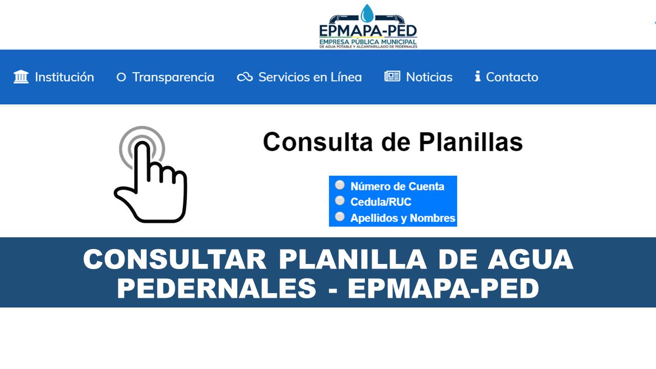 Consultar planilla de agua Pedernales - EPMAPA-PED