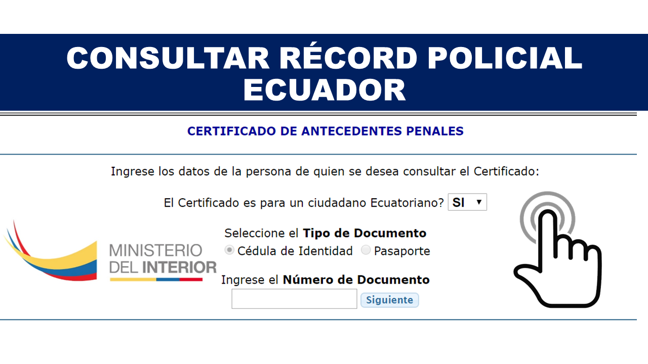 Consultar récord policial en Ecuador