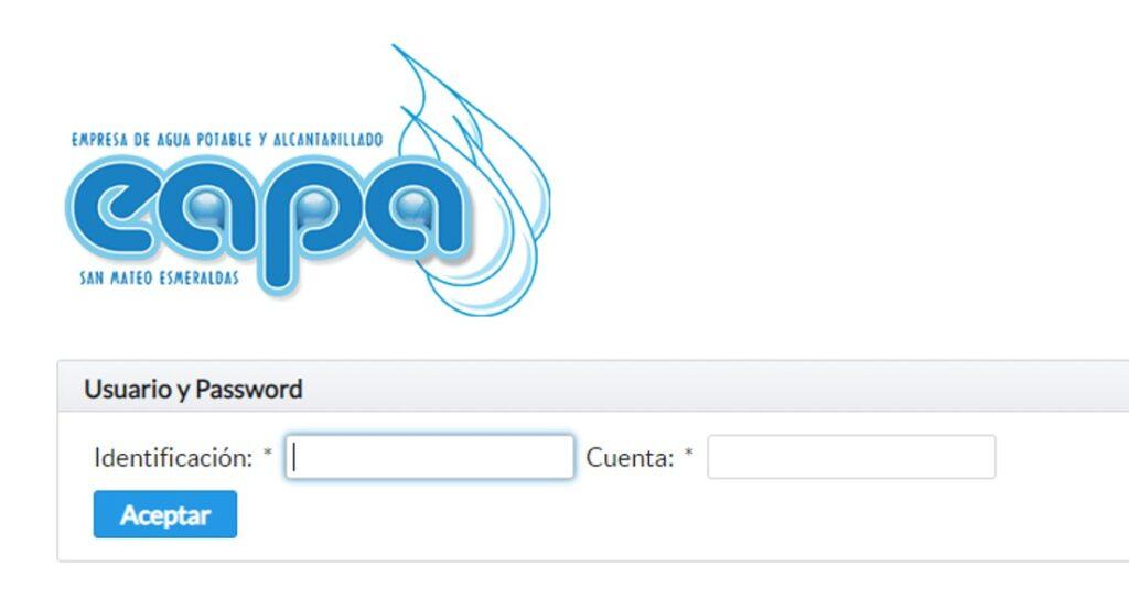 Consultar planilla de agua en Esmeralda- EAPA-San Mateo