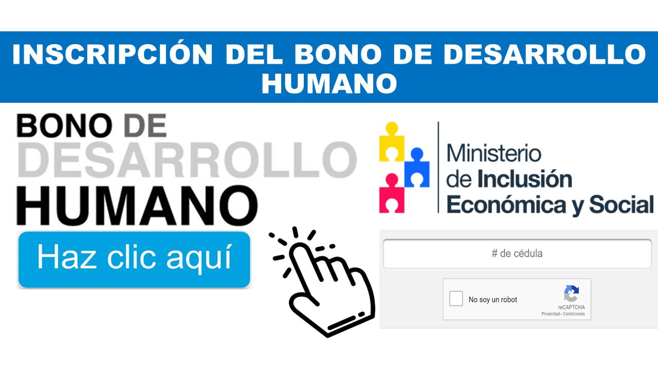 Inscripción Bono de Desarrollo Humano Ecuador
