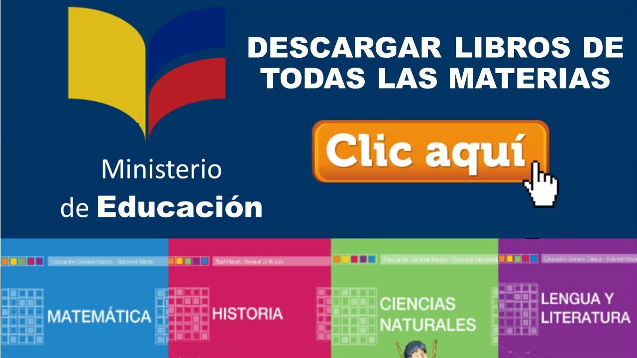 Libros del ministerio de educacion o textos escolares