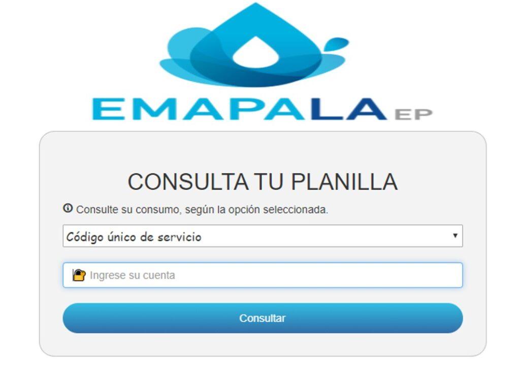Consultar planilla de agua en Sucumbíos Lago agrio-EMAPALA EP