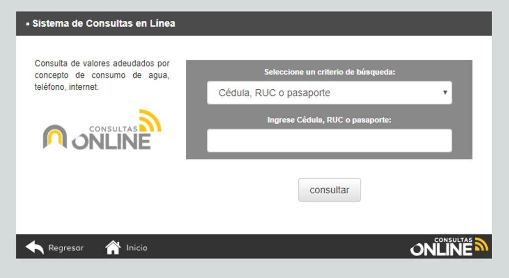 Consultar planilla de agua en Cuenca- ETAPA EP