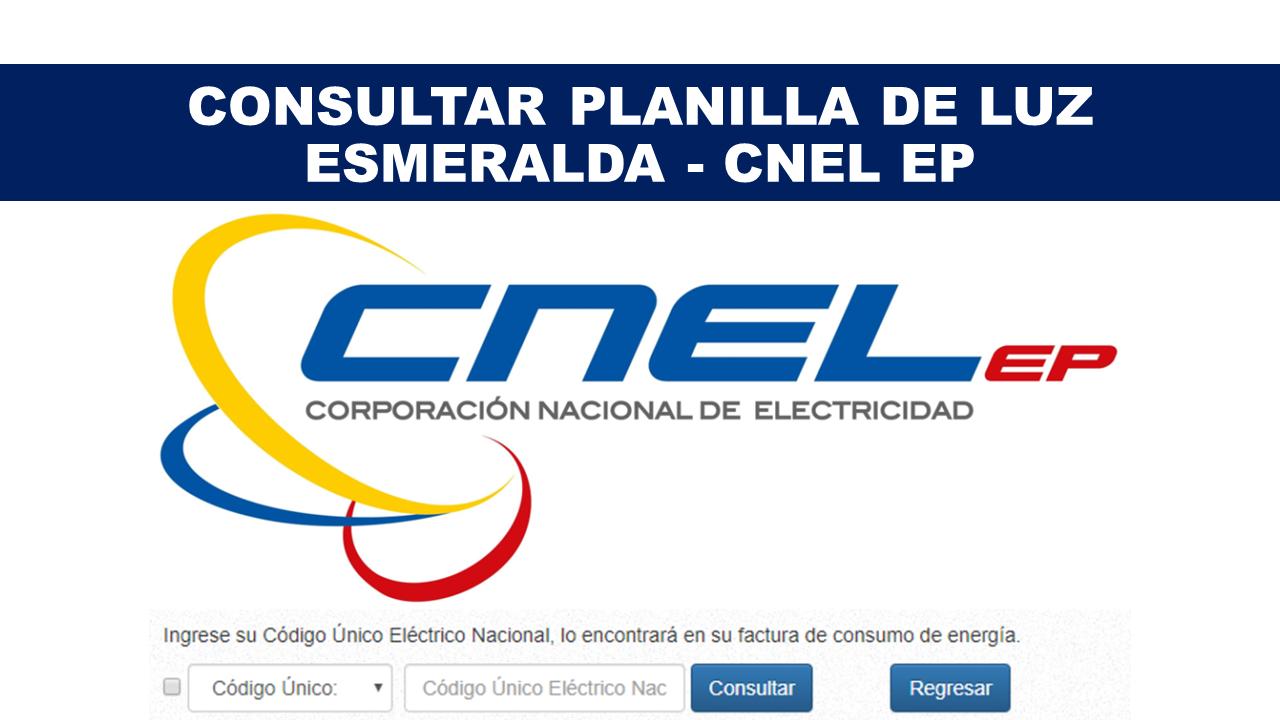 Consultar Planilla de Luz Esmeralda - CNEL EP