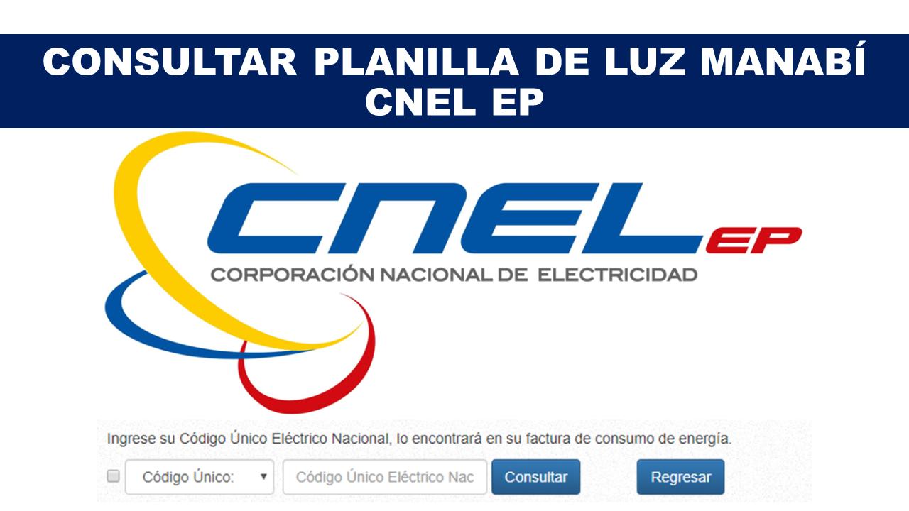 Consultar Planilla de Luz Manabí - CNEL EP