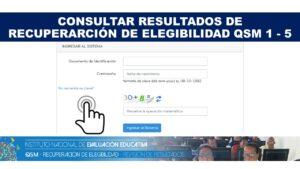 Consultar resultados de las Pruebas para Recuperar la Elegibilidad