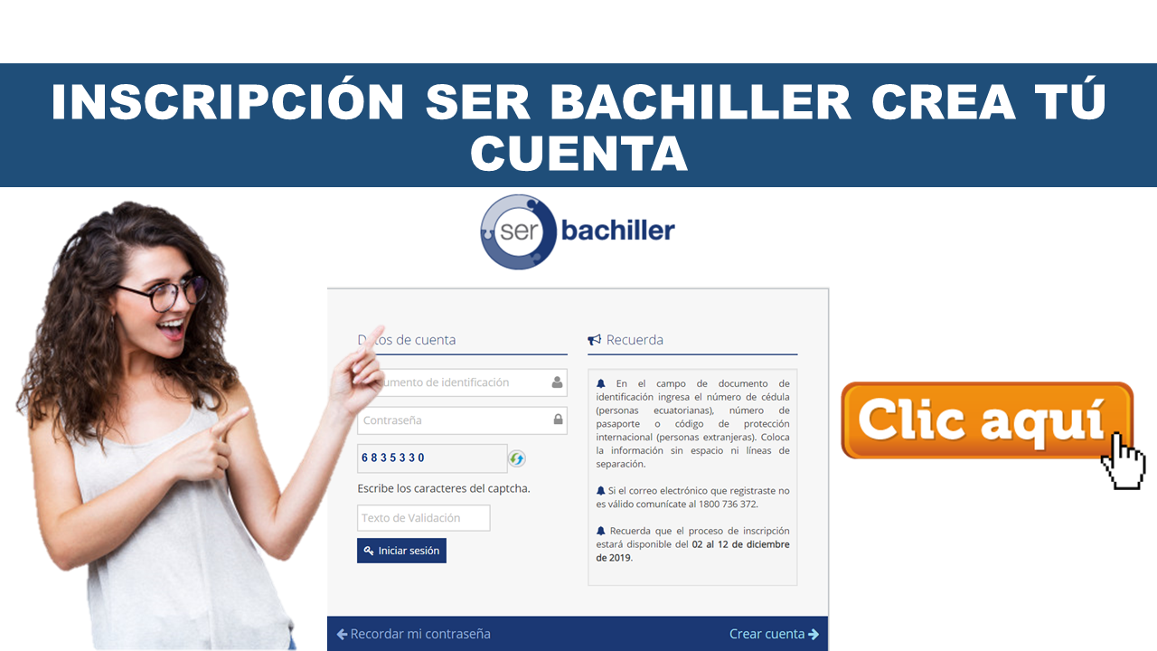 Inscripción Ser Bachiller 2020 Primer Periodo