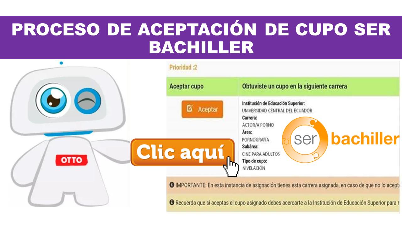 Proceso de Aceptación de Cupo Ser Bachiller 2020