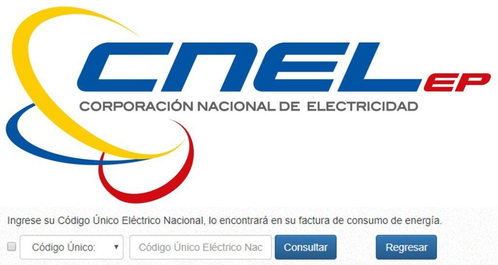 Consultar planilla de luz Santa Ana-CNEL EP