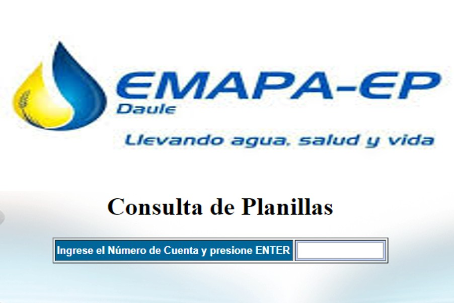 Consultar planilla de agua en Daule-EMAPA EP