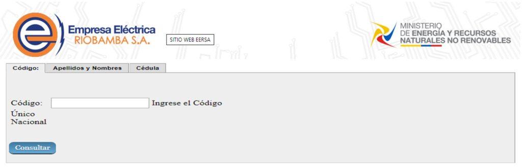 Consultar planilla de luz Chimborazo-EERSA