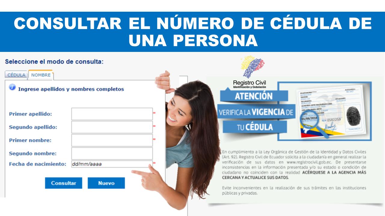 Consultar el Número de Cédula de una Persona