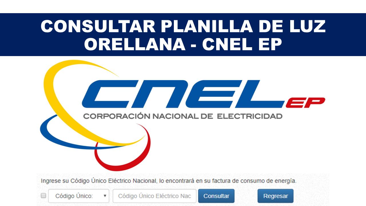 Consultar Planilla de Luz Orellana - CNEL EP