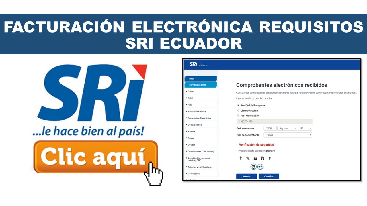 Facturación electrónica requisitos SRI Ecuador
