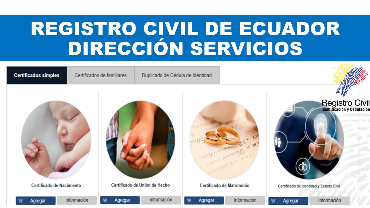 Registro Civil de Ecuador | Dirección servicios