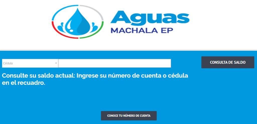 Consultar planilla de agua El Oro-Aguas Machala EP