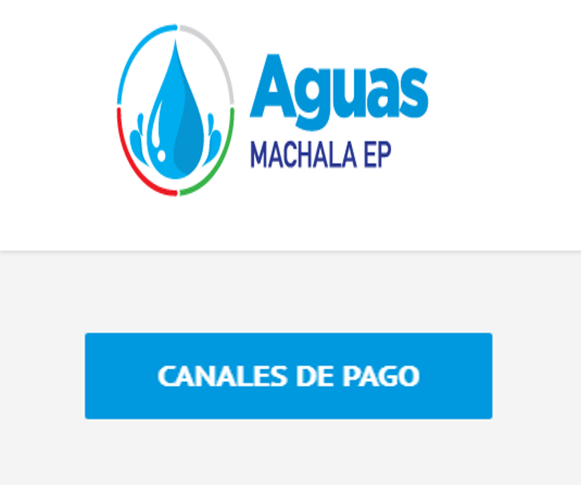 Canales de pago de Aguas Machala