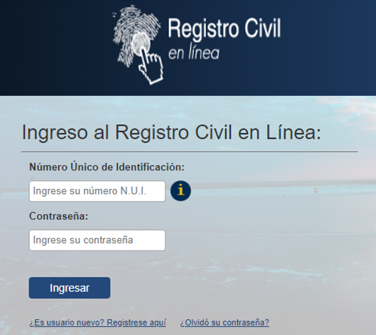 Partida de nacimiento registro civil Ecuador