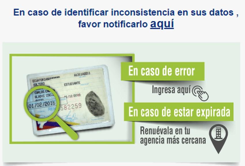 Verificar si los datos proporcionados por el registro civil son correctos