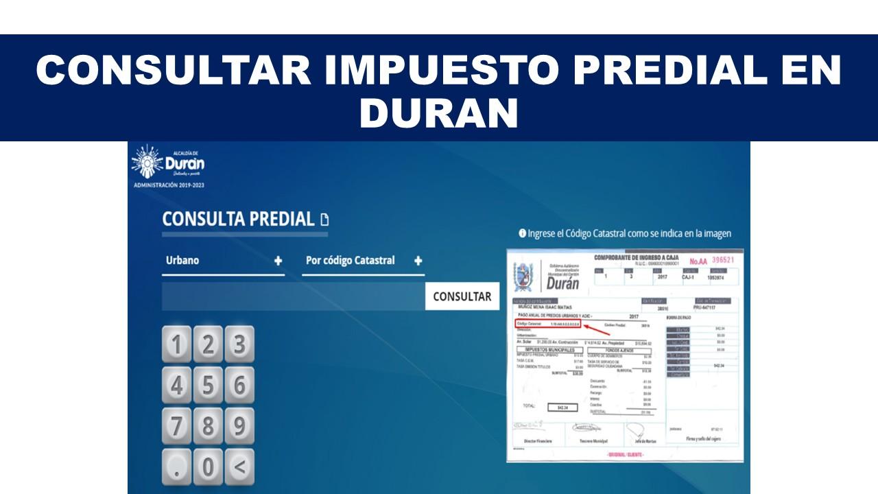 Consultar Impuesto Predial en Duran