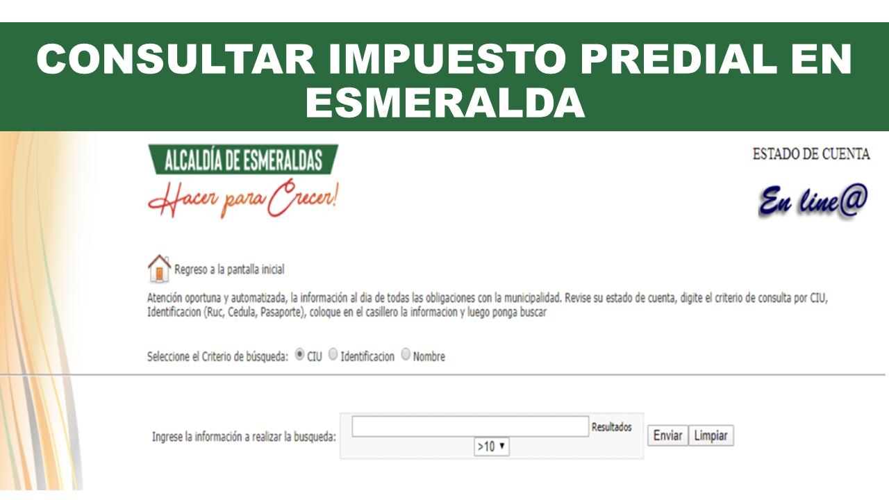 Consultar Impuesto Predial en Esmeralda