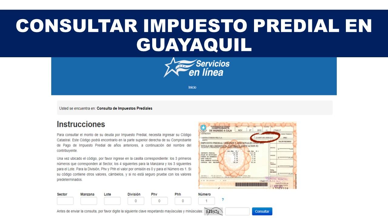 Consultar Impuesto Predial en Guayaquil