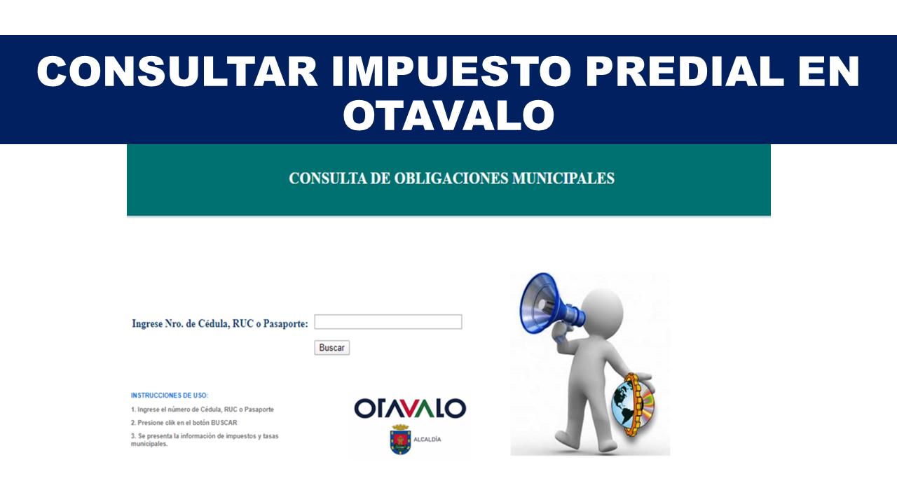 Consultar Impuesto Predial en Otavalo